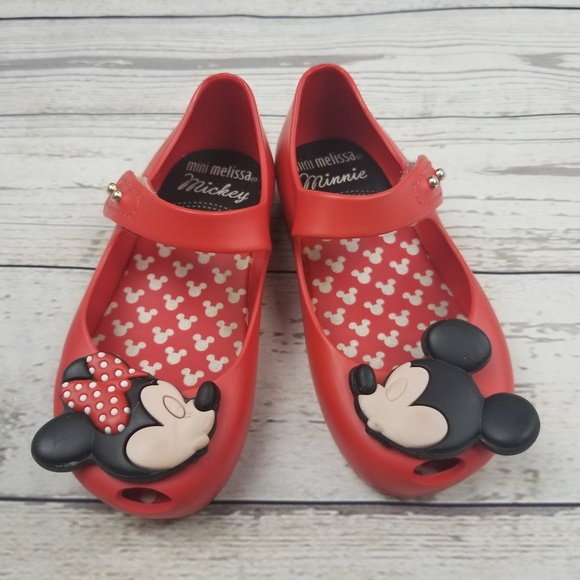 Mini Melissa Shoes Toddler Girls Ultragirl Disney Minnie Mouse Jelly Shoes NEW